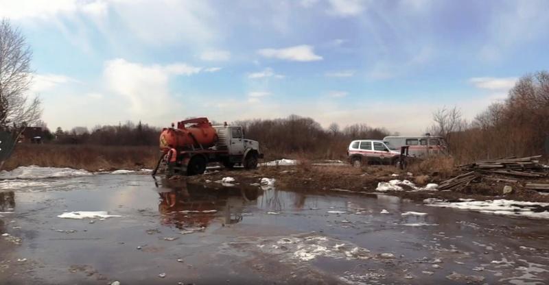 Ликвидация последствий подтопления населенных пунктов талыми водами продолжается в Иркутской области. ВИДЕО