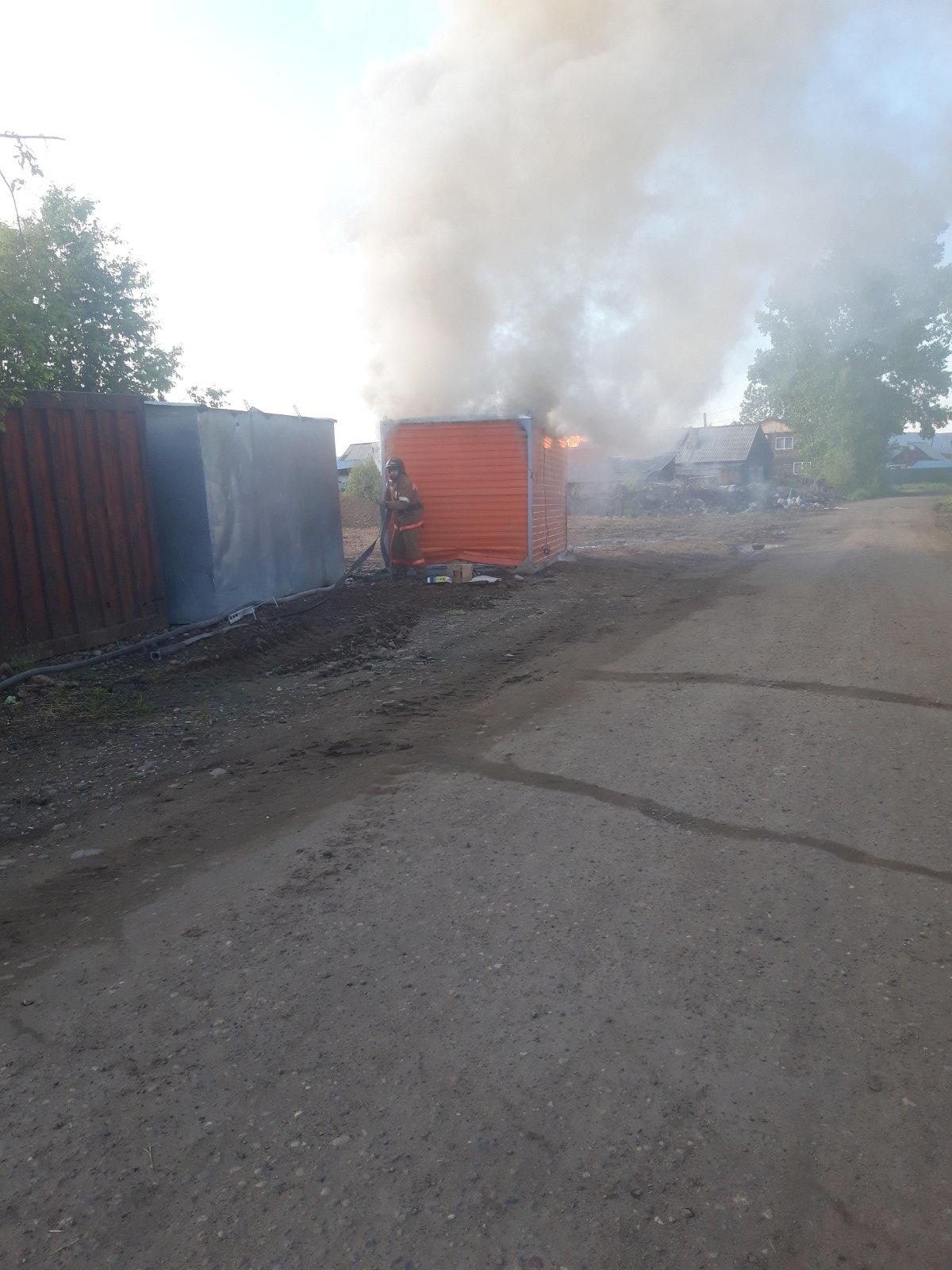 Пожар в г. Нижнеудинске — МЧС России по Иркутской области