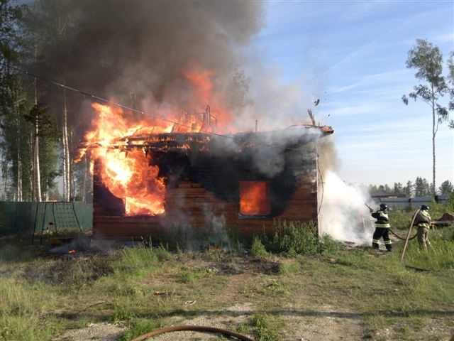 Пожар в Ангарском городском округе